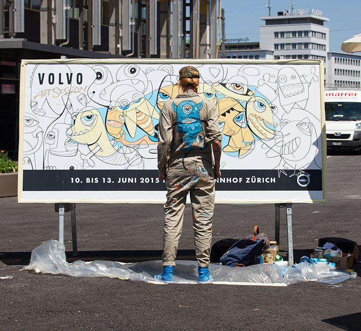 Ein kleiner Vorgeschmack: Live-Painting-Aktion in der Europallee