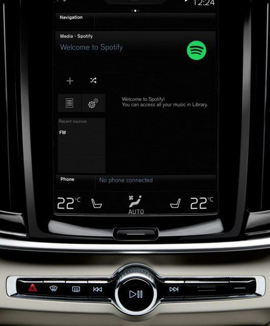 Volvo mit Spotify-Integration