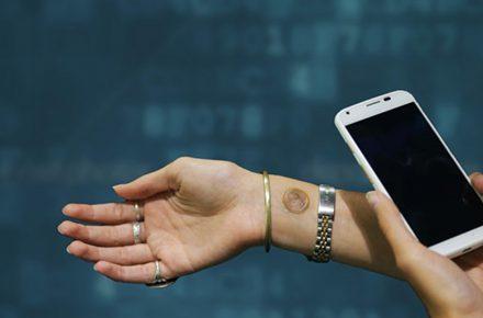 Menschliche Haut wird digital