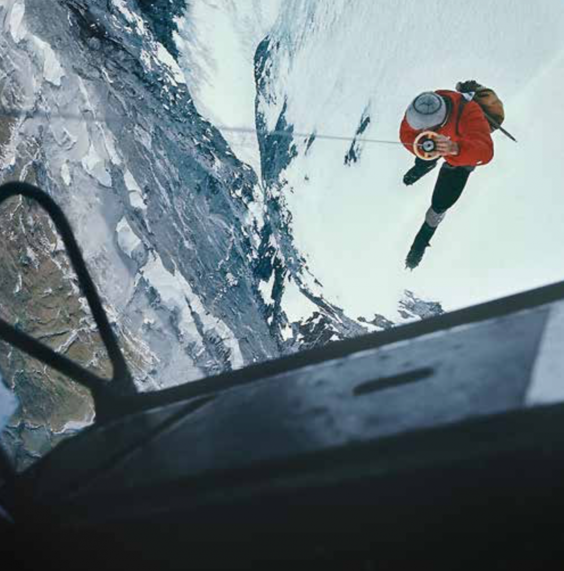 Rettung mit einem verlängerten Windeseil von 65 Meter Länge – heute Longline-Rettung genannt.