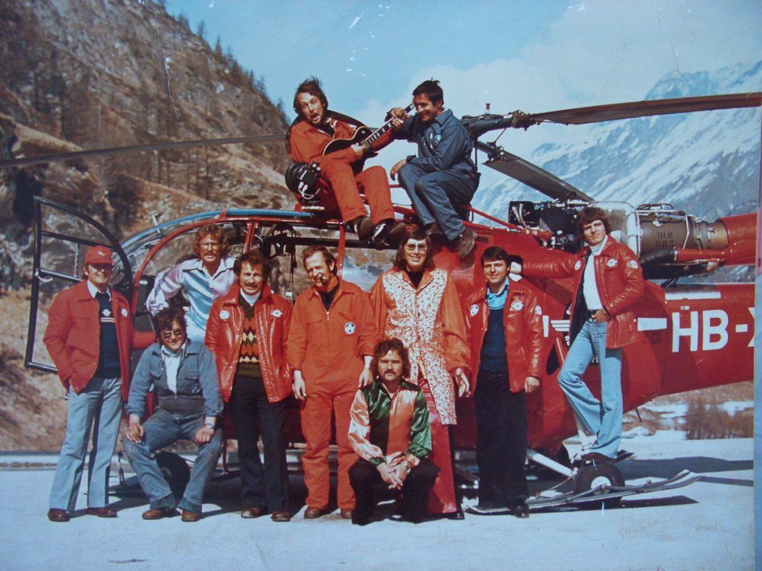 """Der erste Helikopter in der Schweiz mit einer Rettungswinde – 1969 kaufte die Air Zermatt einen weiteren Hubschrauber vom Typ """"Alouette 3"""""""