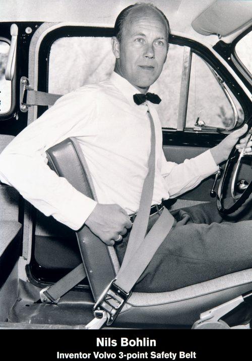 Volvo Cars hat den Dreipunktgurt 1959 erfunden.