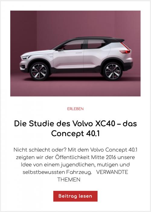 Die Studie des Volvo XC40 –das Concept 40.1