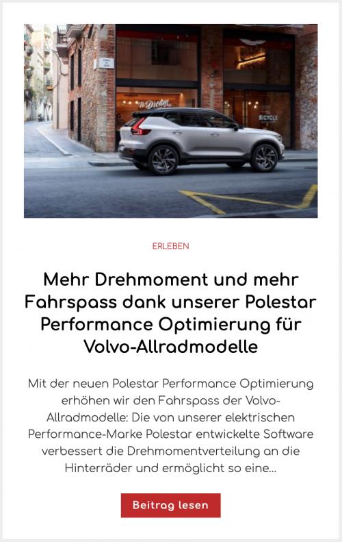 Mehr Drehmoment und mehr Fahrspass dank unserer Polestar Performance Optimierung für Volvo-Allradmodelle