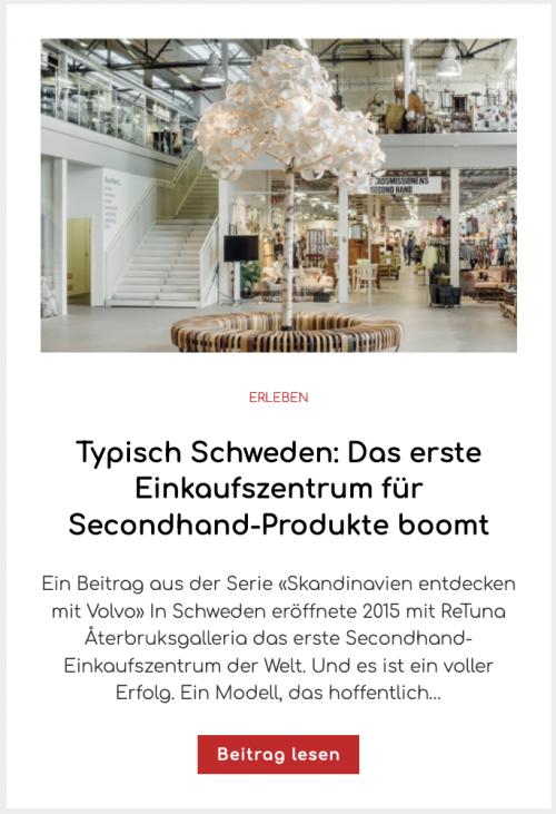 Typisch Schweden: Das erste Einkaufszentrum für Secondhand-Produkte boomt