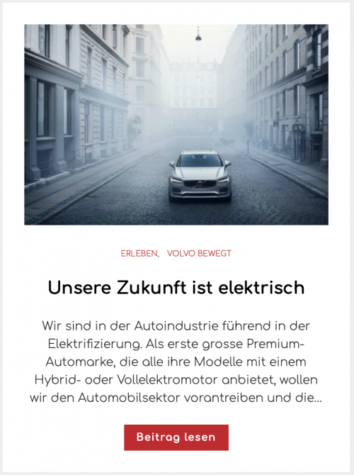 Volvo Cars Elektro-Mobilität