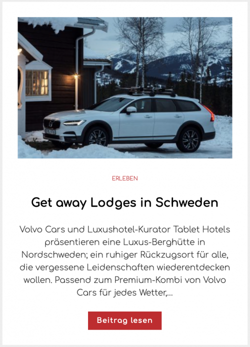 Get away Lodges in Schweden