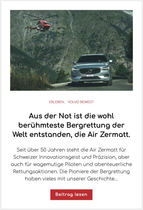 Volvo XC60 Air Zermatt