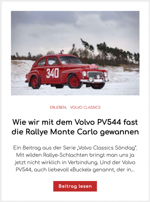 Wie wir mit dem Volvo PV544 fast die Rallye Monte Carlo gewannen