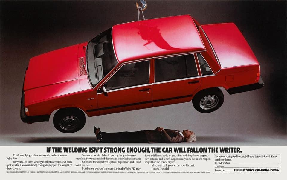 14 Volvo-Anzeigen, die schon damals für Furore sorgten