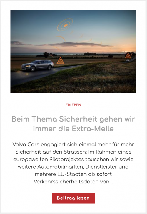 Volvo Cars Sicherheit