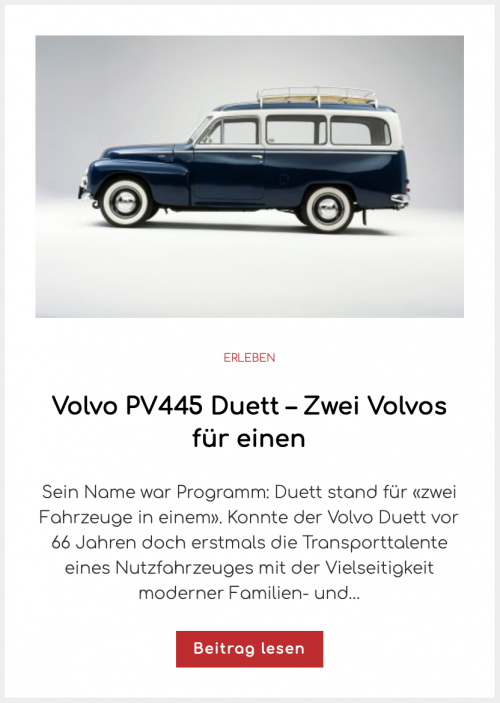 Volvo PV445 Duett – Zwei Volvos für einen