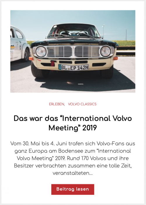 "International Volvo Meeting"" 2019"