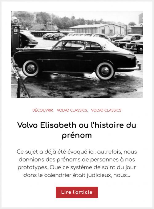 Volvo Elisabeth ou l'histoire du prénom