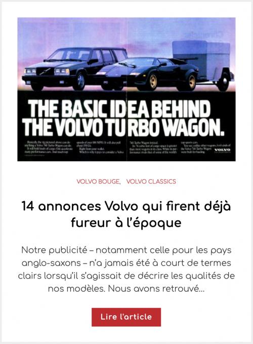 14 annonces Volvo qui firent déjà fureur à l'époque