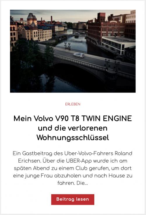Mein Volvo V90 T8 TWIN ENGINE und die verlorenen Wohnungsschlüssel