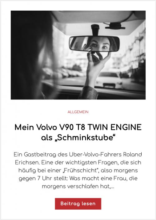 """Mein Volvo V90 T8 TWIN ENGINE als """"Schminkstube"""""""