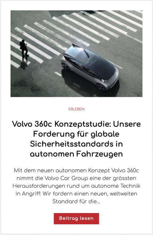 Volvo 360c Konzeptstudie: Unsere Forderung für globale Sicherheitsstandards in autonomen Fahrzeugen