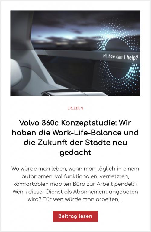 Volvo 360c Konzeptstudie: Wir haben die Work-Life-Balance und die Zukunft der Städte neu gedacht