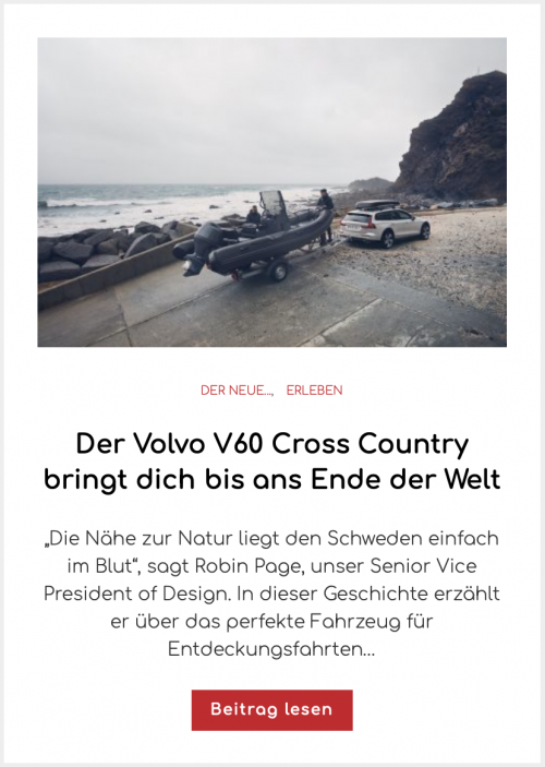 Der Volvo V60 Cross Country bringt dich bis ans Ende der Welt