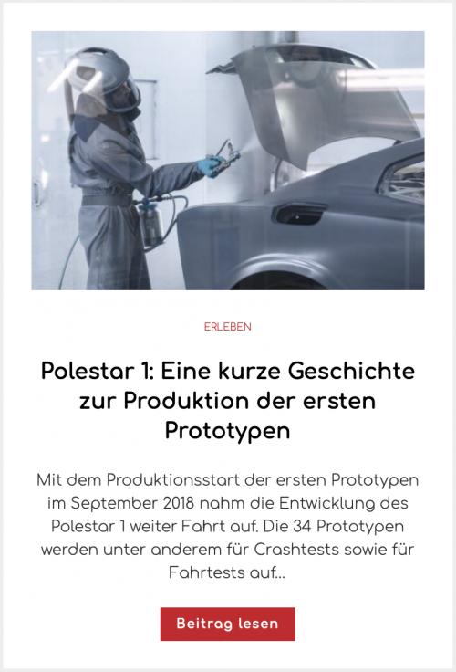 Polestar 1: Eine kurze Geschichte zur Produktion der ersten Prototypen