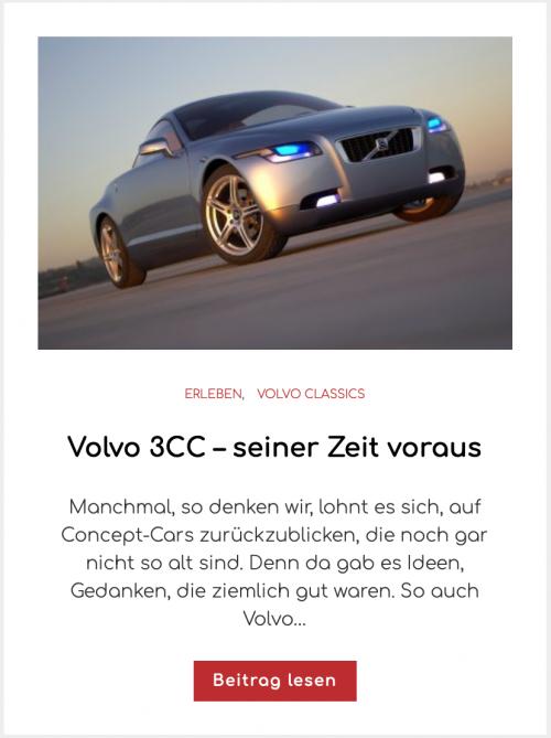 Volvo 3CC – seiner Zeit voraus