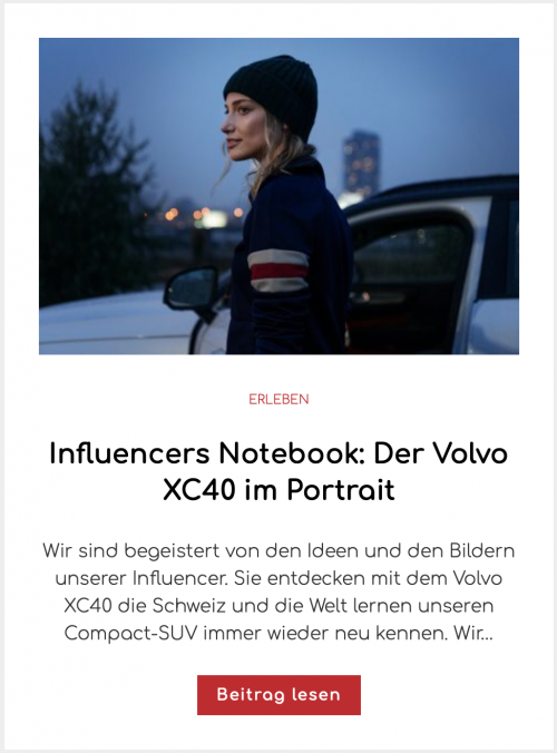 Influencers Notebook: Der Volvo XC40 im Portrait