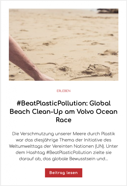 #BeatPlasticPollution: Global Beach Clean-Up am Volvo Ocean Race