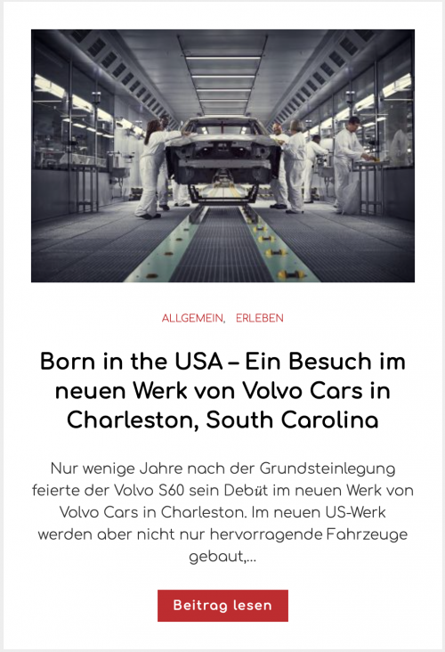 Born in the USA – Ein Besuch im neuen Werk von Volvo Cars in Charleston, South Carolina