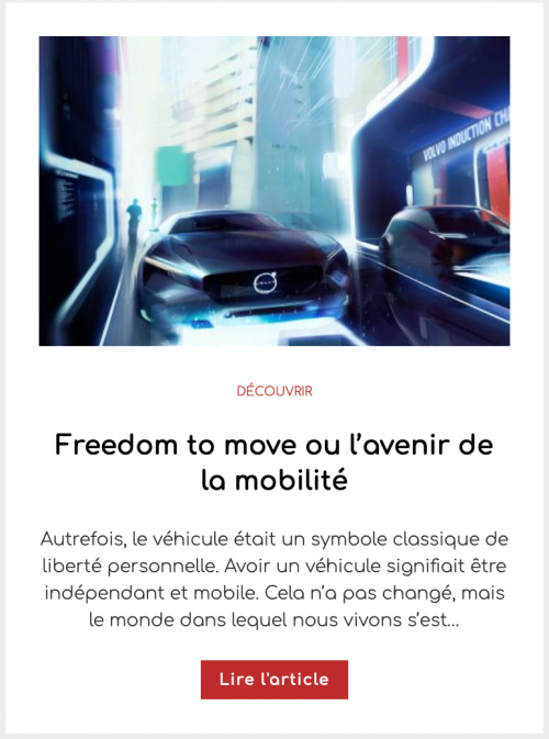 Freedom to move ou l'avenir de la mobilité