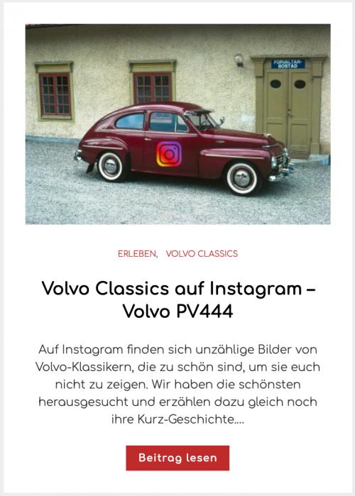 Volvo Classics auf Instagram – Volvo PV444
