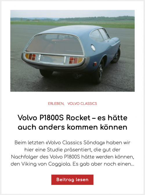 Volvo P1800S Rocket – es hätte auch anders kommen können