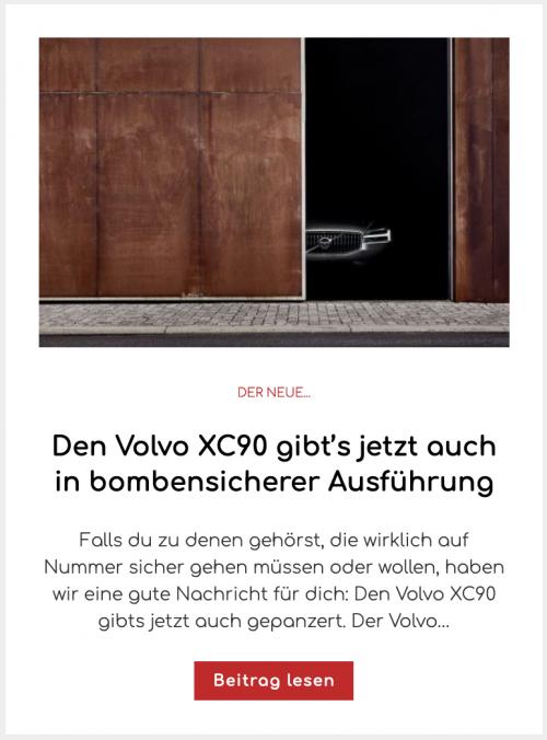 Den Volvo XC90 gibt's jetzt auch in bombensicherer Ausführung