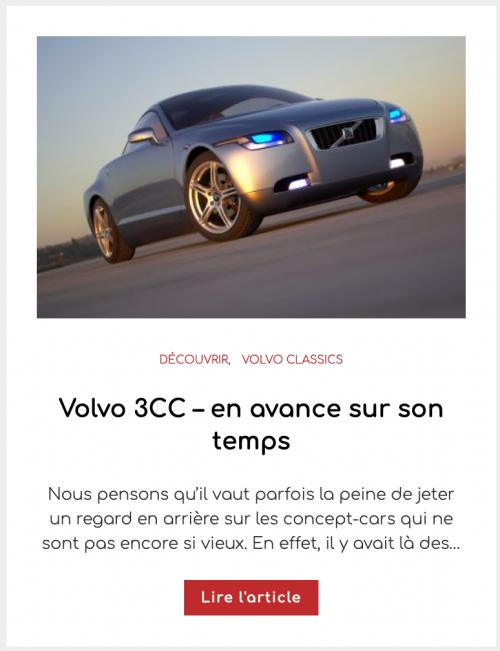 Volvo 3CC – en avance sur son temps