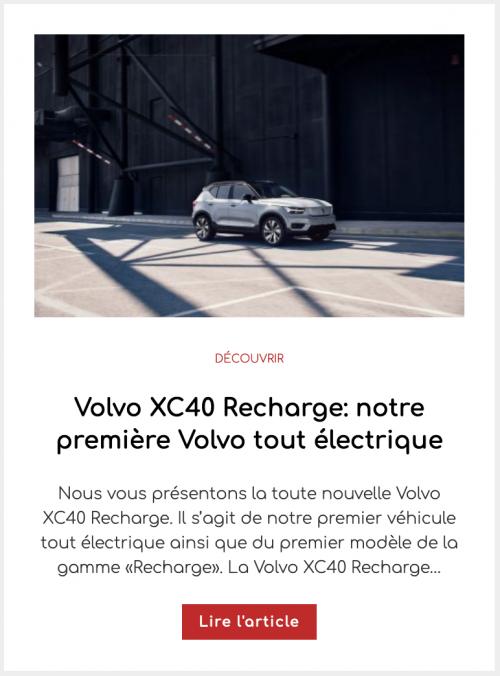 Volvo XC40 Recharge: notre première Volvo tout électrique