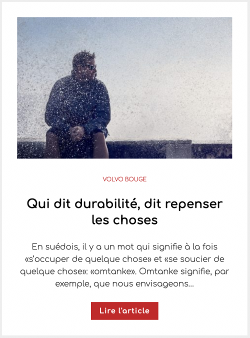 Qui dit durabilité, dit repenser les choses