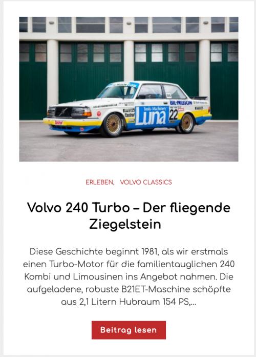 Volvo 240 Turbo – Der fliegende Ziegelstein