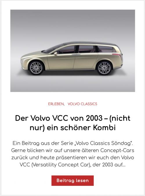 Der Volvo VCC von 2003 – (nicht nur) ein schöner Kombi