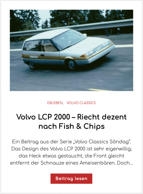 Volvo LCP 2000 – Riecht dezent nach Fish & Chips