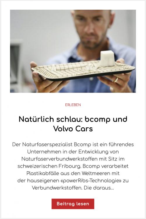 Natürlich schlau: bcomp und Volvo Cars