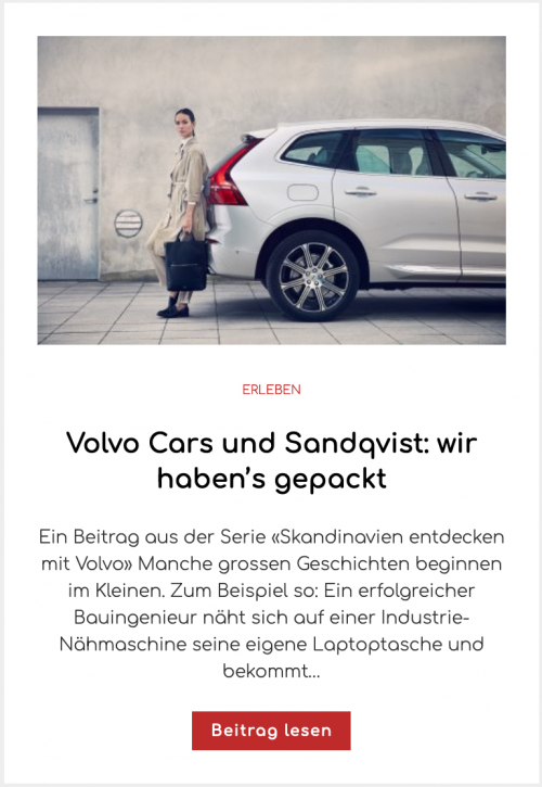 Volvo Cars und Sandqvist: wir haben's gepackt