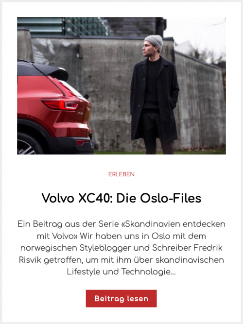 Volvo XC40: Die Oslo-Files