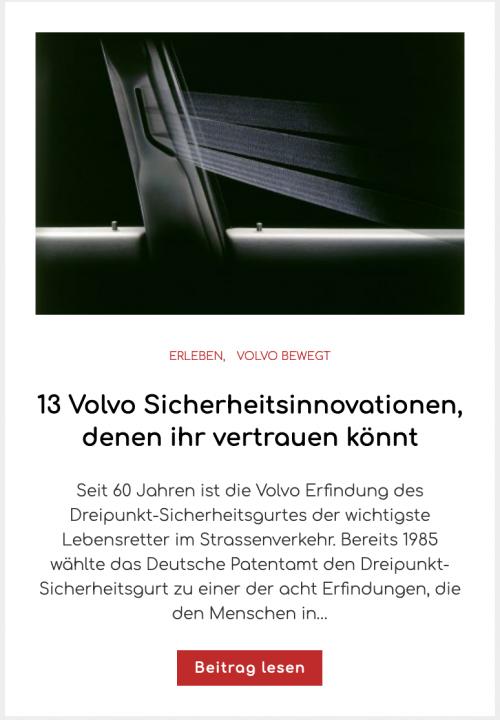 13 Volvo Sicherheitsinnovationen, denen ihr vertrauen könnt