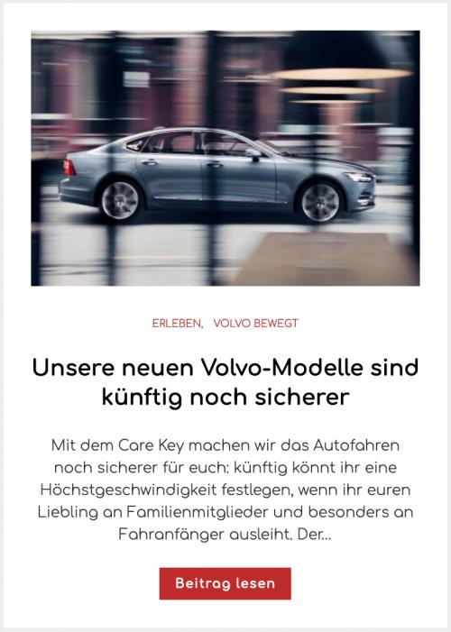 Unsere neuen Volvo-Modelle sind künftig noch sicherer