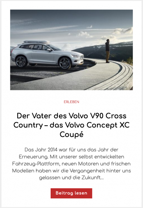 Der Vater des Volvo V90 Cross Country – das Volvo Concept XC Coupé