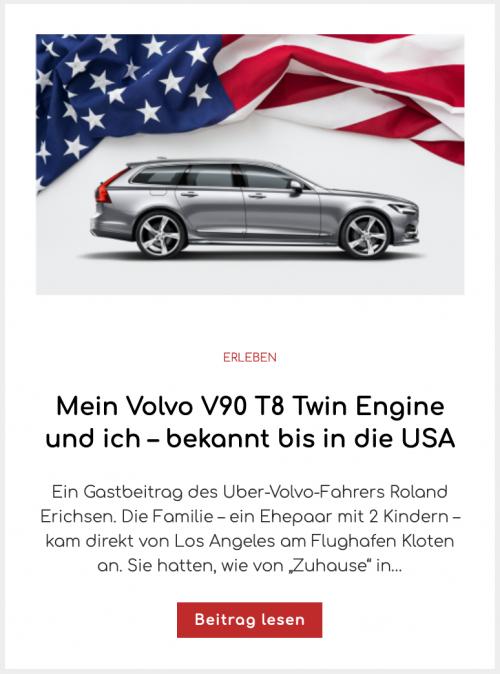 Mein Volvo V90 T8 Twin Engine und ich – bekannt bis in die USA