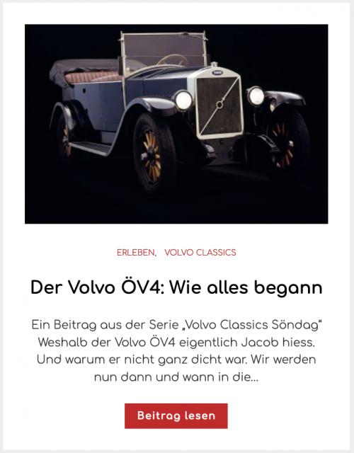 Der Volvo ÖV4: Wie alles begann