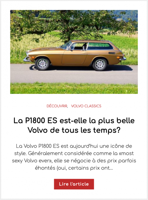 La P1800 ES est-elle la plus belle Volvo de tous les temps?