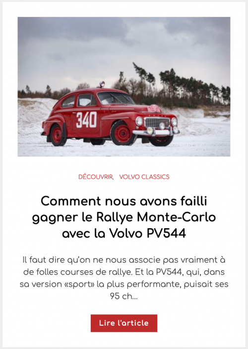Comment nous avons failli gagner le Rallye Monte-Carlo avec la Volvo PV544
