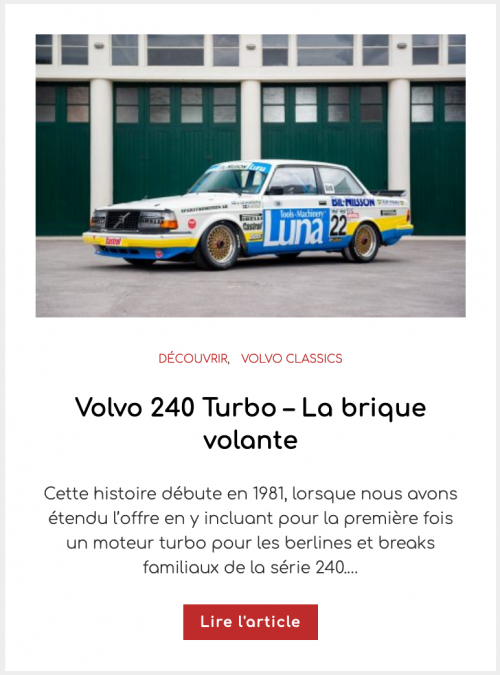 Volvo 240 Turbo – La brique volante